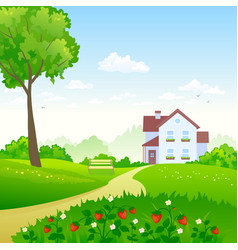 Green garden vector