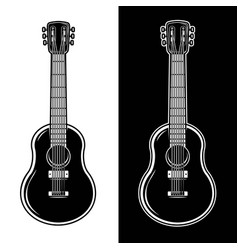guitar isolated on white background design vector image