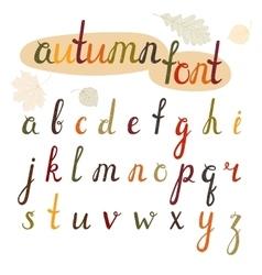 Hand-drawn autumn font vector