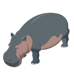 Hippo isometric icon vector