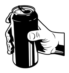 holding a can of cola vector image