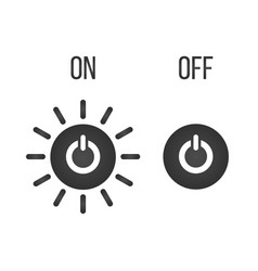 Icon button on-off indicator isolated on white vector