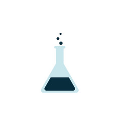 icon or symbol a chemical glass beaker or flask vector image