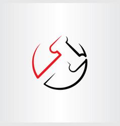 Judge gavel clipart logo icon vector