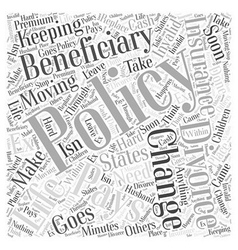 Keeping that life insurance Word Cloud Concept vector
