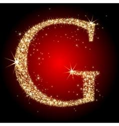 Letter star g vector