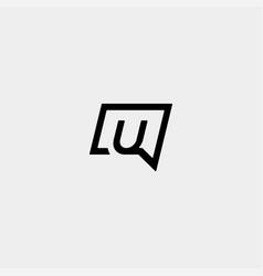 Letter u chat logo template design vector