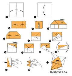 Make origami a talkative fox vector