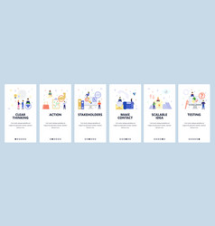 mobile app onboarding screens business strategy vector image