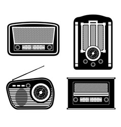 radio old retro vintage icon stock vector image