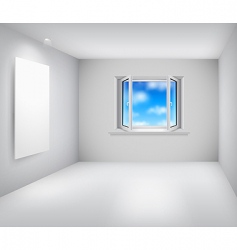 room and window vector image