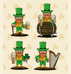 saint patricks elf cartoon vector image