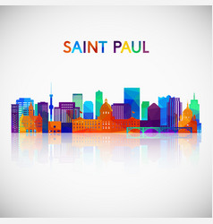 Saint paul skyline silhouette vector