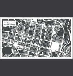 San miguel de tucuman argentina city map in black vector