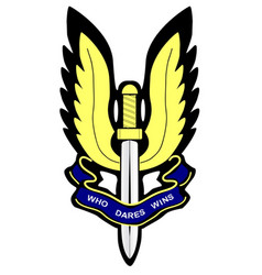 Sas badge vector