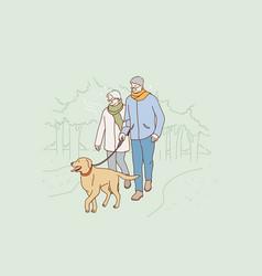 Senior people happy lifestyle concept vector