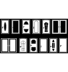 Set isolated doors vector