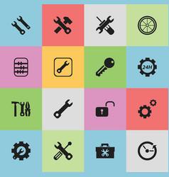 Set of 16 editable repair icons includes symbols vector