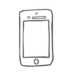 smart phone doodle icon hand drawn sketch in vector image