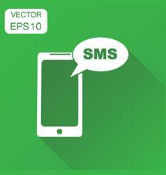 smartphone with sms buble icon business concept vector image