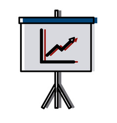 statistics presentation board vector image
