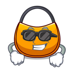 Super coolbeautifully hobo bag on character funny vector