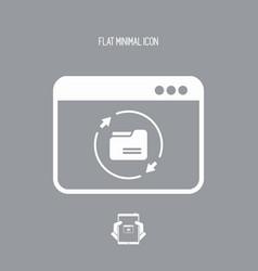 Synchronize folders application - flat minimal vector