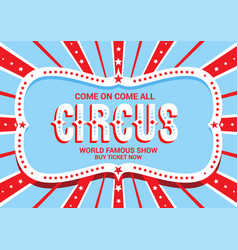 template for circus vector image