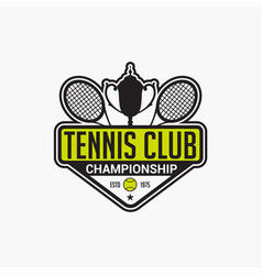 tennis club badge logo-7 vector image