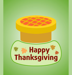 Thanksgiving day background with pie vector