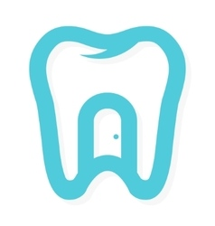 tooth logo with door at home dental vector image