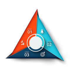 Triangle element for infographic vector