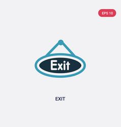 Two color exit icon from museum concept isolated vector