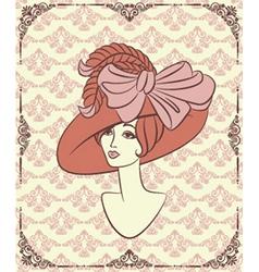 Vintage lady vector