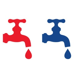 water faucet vector image