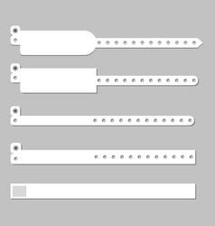 wristband bracelet template vector image