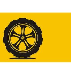 automotive wheel vector image