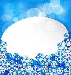 Christmas white paper label vector image vector image