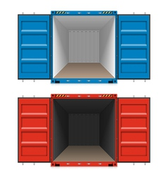 Freight shipping open cargo containers vector image