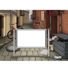 Street text place vector image