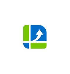 arrow data business finance logo vector image