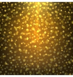 bright gold abstract background bokeh vector image