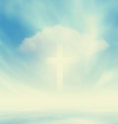Christian Glowing Cross vector image vector image