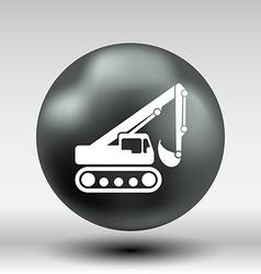 Excavator icon button logo symbol concept vector