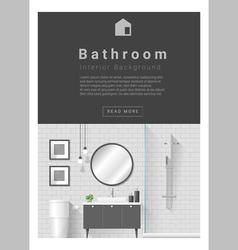 Interior design Modern bathroom banner 4 vector image