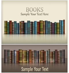 Number of books vector image