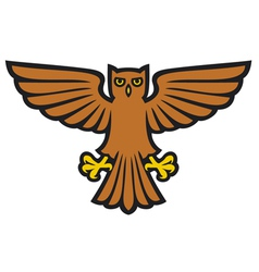 owl with wings spread vector image