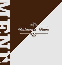 Retro restaurant menu design vector image vector image