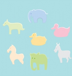 set of animals vector image vector image