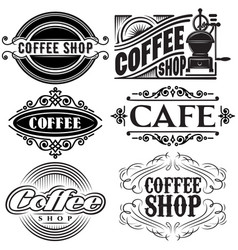 set of templates in different retro styles vector image